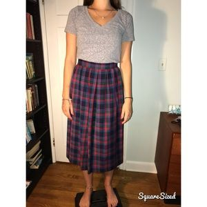 Pendleton Plaid Wool Skirt